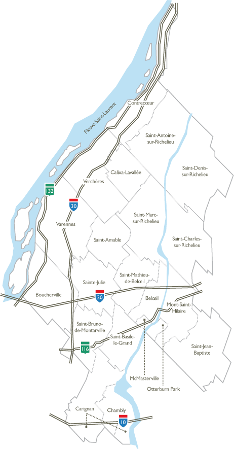 Carte du territoire de la CSP