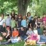 Des élèves de l'école Arc-en-ciel de passage au Camp Papillon