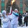 La flamme olympique de passage à l'école De Bourgogne