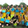 Les élèves du groupe 103 de l'option basket-ball remportent le traditionnel tournoi de soccer de 1re secondaire de l'école Polybel