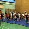 Démonstration haute en couleurs de l'équipe de cheerleading de l'école le Carrefour