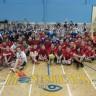 Compétition de mini-volleyball à l'école secondaire Polybel
