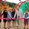 Inauguration de l'aire de jeu du parc-école de la Pommeraie