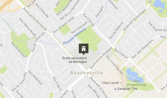 Carte - École secondaire De Mortagne