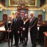 Simulation parlementaire à l'Assemblée nationale pour quatre élèves de l'EEI