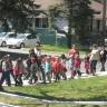 Grande marche des élèves de l'école Mère-Marie-Rose