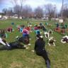 Activité de yoga à l'école Paul-VI