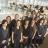 Les élèves du journal étudiant de l'école secondaire du Grand-Coteau en visite à La Presse