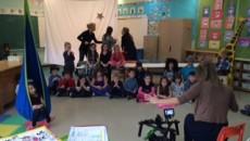 L'émission « Note Rythme » de passage à l'école Saint-Denis