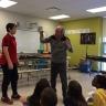 Visite de Georges Brossard à l'école des Cœurs-Vaillants