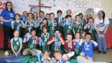 Les élèves de l'école De Bourgogne au Championnat régional d'empilage sportif