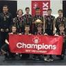 Les joueurs de volleyball du Noir et Or de l'école secondaire De Mortagne, grands champions canadiens de l'Est!