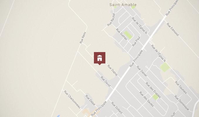 Carte - Situation géographique de la nouvelle école à Saint-Amable
