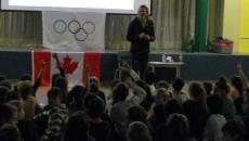 Une Olympienne rencontre les élèves de l'école De Bourgogne
