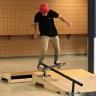 Un skatepark intérieur à l'école secondaire De Mortagne