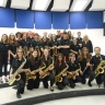 Le Stage Band de l'école Ozias-Leduc en performance au Festival international de Jazz de Montréal
