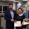 Héloïse Brouillette reçoit la médaille de la gouverneure générale du Canada