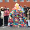 Une mosaïque de glace haute en couleur