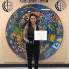 Une élève honorée à l'École d'éducation internationale