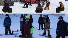 Belle saison pour les élèves en concentration surf des neiges à De Mortagne
